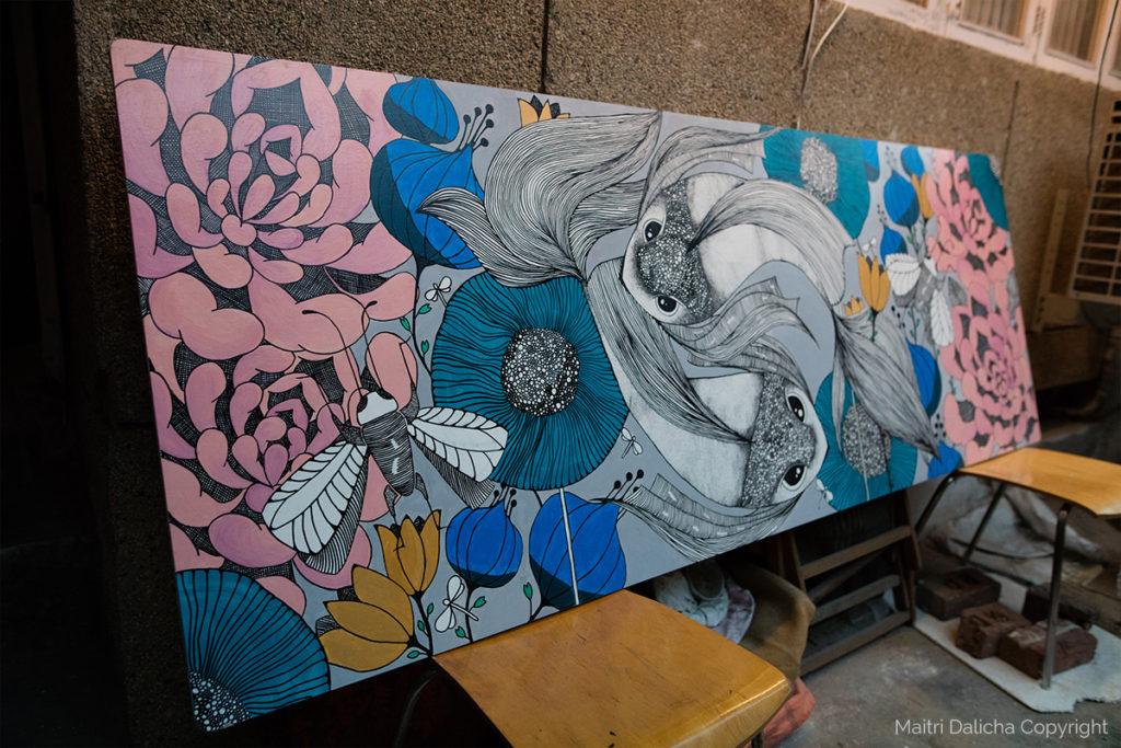 Acrylics on wood | Maitri Dalicha