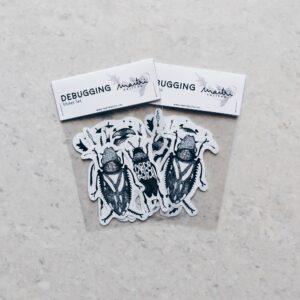 debugging sticker set | Maitri Dalicha