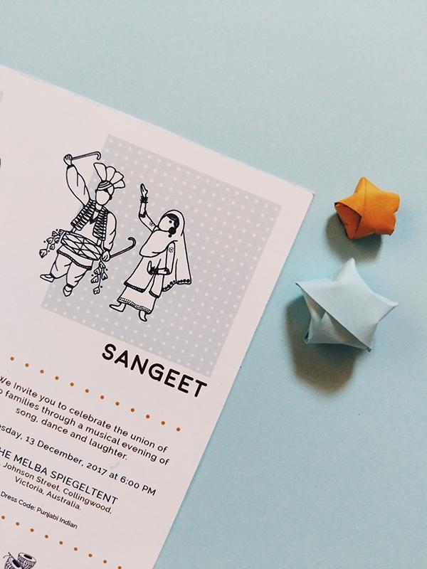 wedding invite design   Maitri Dalicha x Chaiwalli