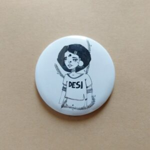 Confused 90's Button Pin | Women20XX | Maitri Dalicha