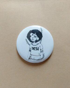 Confused 90's Button Pin | Women20XX | Maitri Dalicha