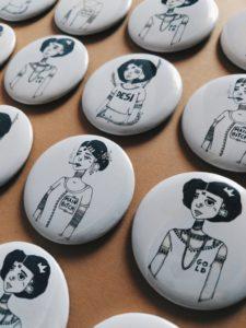 Women20XX Button Pins | Maitri Dalicha